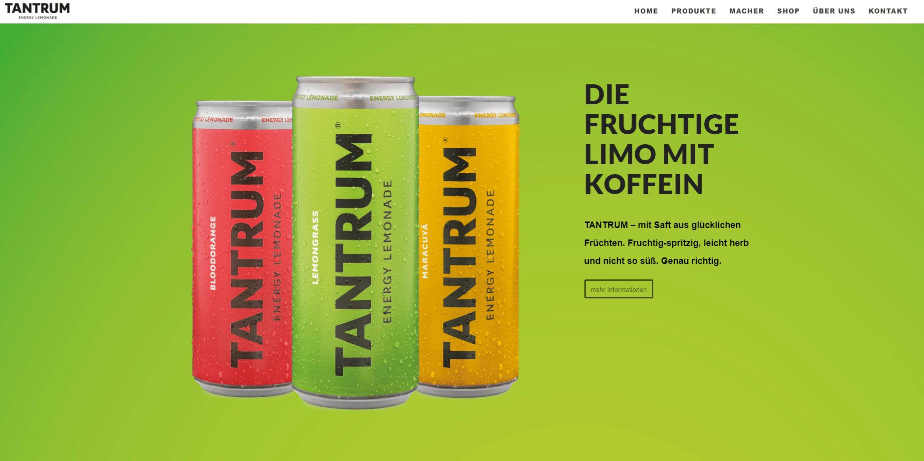 Tantrum Webseite