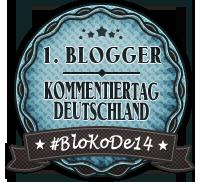 Badge zum 1.  Blogger Kommentiertag Deutschland