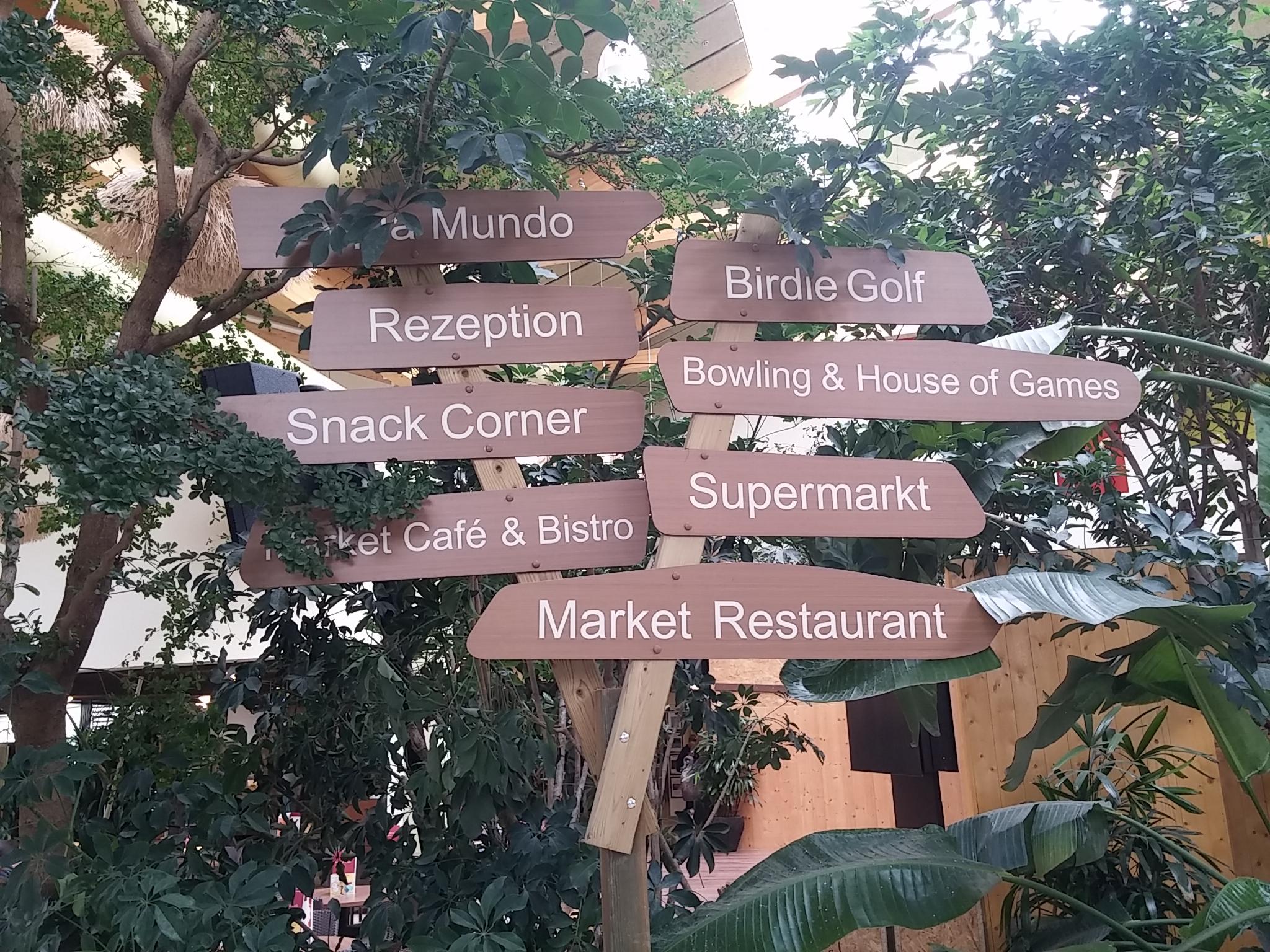 Dieser Wegweiser zeigt euch den Weg zu allen wichtigen Punkten im Market Dome