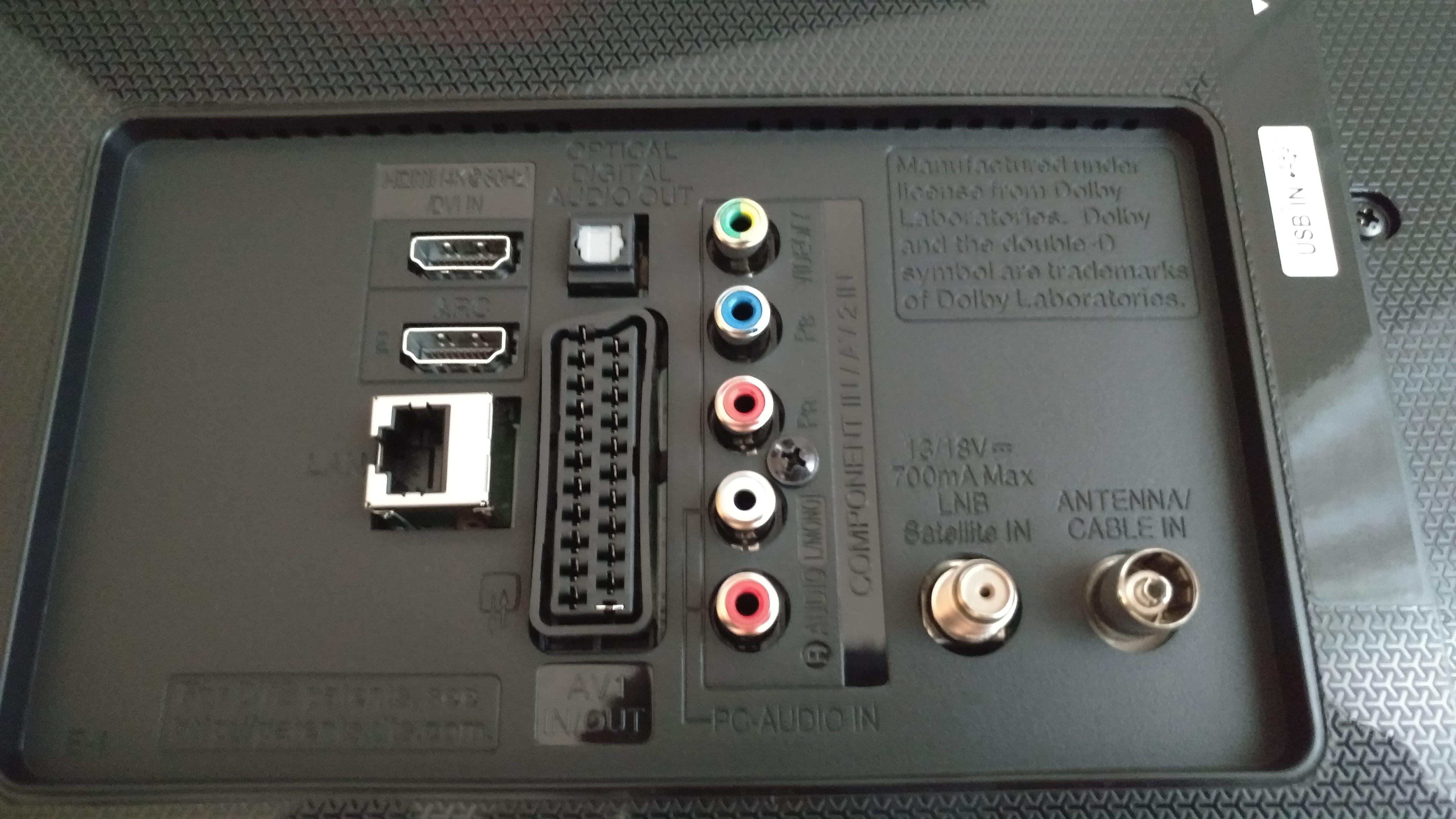Anschlüsse des LG 55UH600V