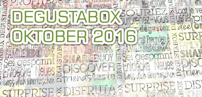 [Testbericht] Degusta Box Oktober 2016 – Überraschungsbox für Genießer