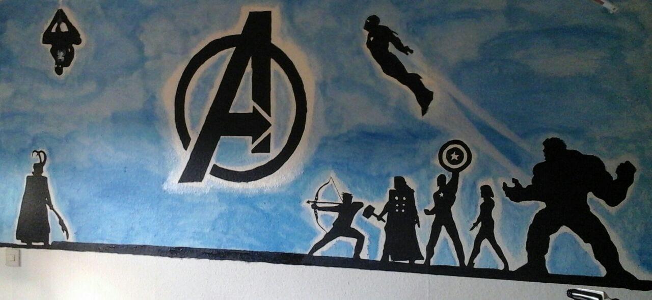 Home » Tutorials » [DIY] Wandbilder Einfach Selber Malen U2013 Die Avengers  Ziehen Im Kinderzimmer Ein